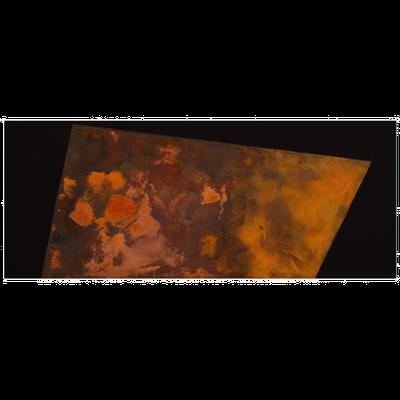 Schwarzer Canvas, Eisenfeilspäne - 60 x 150 cm, 2015