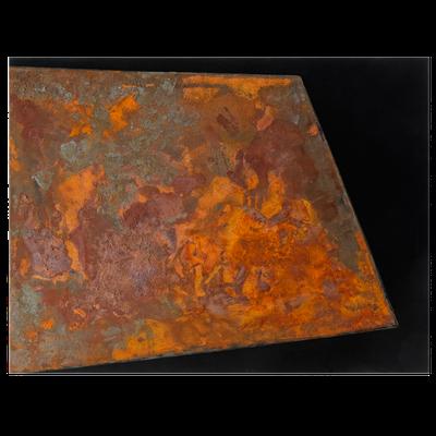 Schwarzer Canvas, Eisenfeilspäne - 90 x 120 cm, 2015
