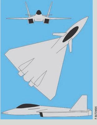 Il concept design di un caccia 5^generazione basato sul MiG-35.