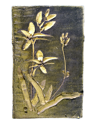 "Eugeny Granin. ""Orchids"". Decorative ceramic panel. $3777"