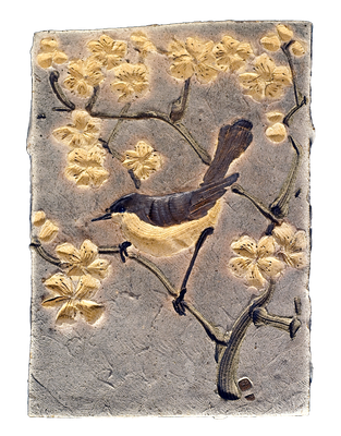 "Eugeny Granin. ""Birds & Flowers"". Decorative ceramic panel. $3777"