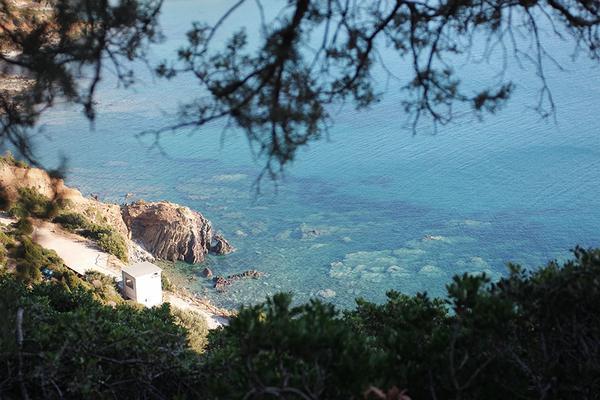 ausblick vom klettergebiet
