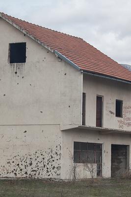 zerschossene Häuser