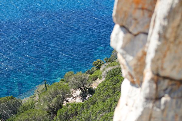 ausblick von der kletterroute