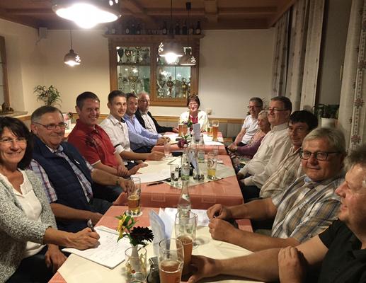 SPD Ortsverbandsversammlung im Gasthaus Geiger in Arnetsried