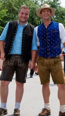 Mit Marktrat Karl Augustin auf dem Teisnacher Sommerfest