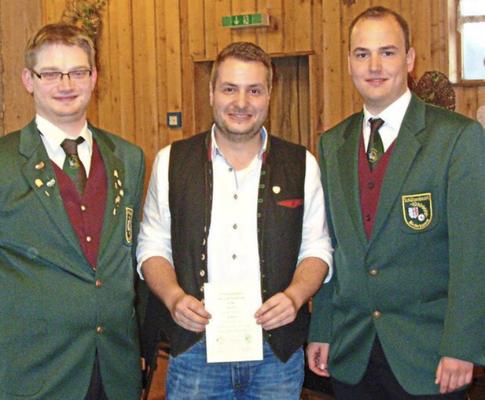 Als Gaujugendleiter erhielt ich die silbere Ehrennadel des Schützenbezirks Niederbayern