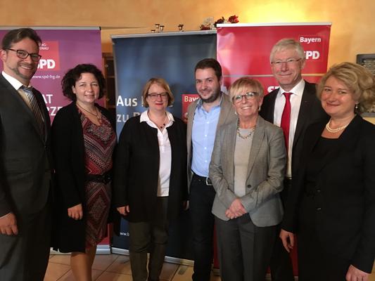 Nach der SPD Nominierungsversammlung in Kirchdorf zusammen mit einigen Niederbayerischen Funktionären