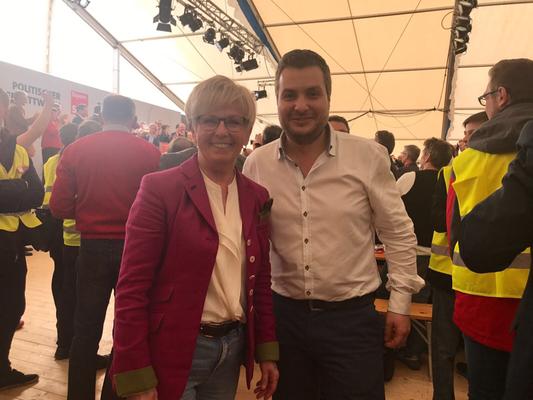 Mit Rita Röhrl am Politischen Aschermittwoch in Vilshofen