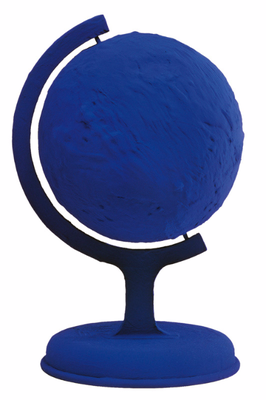 Globe terrestre bleu (RP 7), 1957, 40,5 x 29,5 x 29 cm.