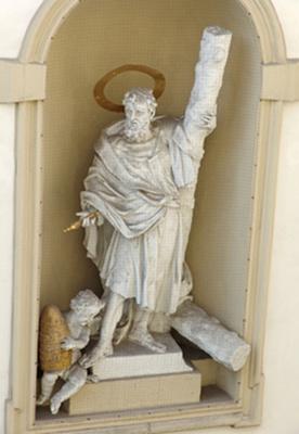 Peterskirche: Statuen von Lorenzo Mattielli - 1730