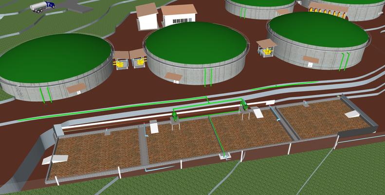 Biodigestor  para basura orgánica
