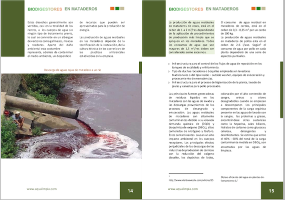 Biodigestores en mataderos, rastros o frigoríficos