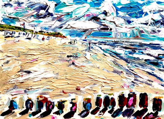 Am Roten Kliff 4/ Acryl auf Aquarellpapier/ 40 cm x 30 cm