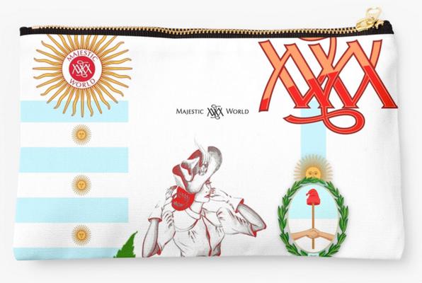 exclusive Schminktasche `ARGENTINIEN ` - Design M. A. MARTIN - Berlin