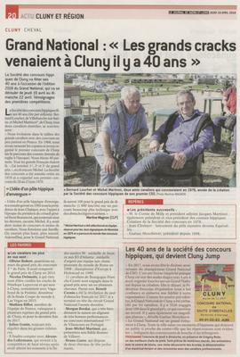 Article paru dans Le Journal de Saône et Loire le 19 avril 2018