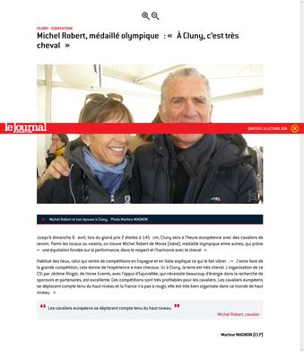 Article paru dans Le Journal de Saône et Loire le 7 Avril 2019