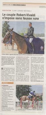 Article paru dans Le Journal de Saône et Loire le 22 avril 2018