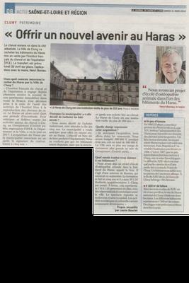 Article paru dans Le Journal de Saône et Loire le 31 mars 2018