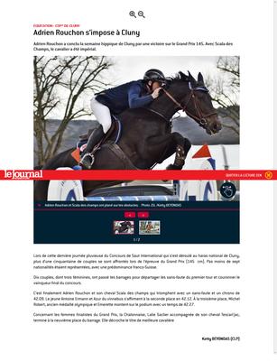 Article paru dans Le Journal de Saône et Loire le 8 Avril 2019
