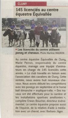 Article paru dans Le Journal de Saône et Loire le 22 octobre 2017