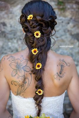 Brautfrisur Hochzeitsfrisur Sonnenblume Style me up