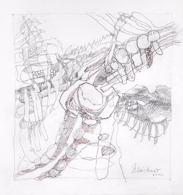 Zeichnung 25 | 2014 | 30x30cm