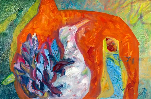 Weisser Vogel | Öl auf Leinwand | 80x60cm | 2015