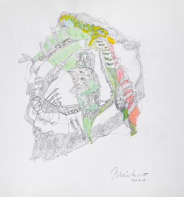 Zeichnung 16 | 2020 | 30x30cm