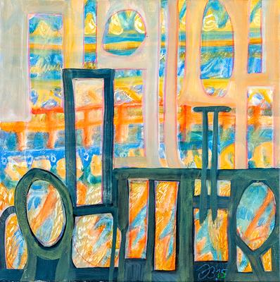 Barierre | Öl auf Leinwand | 50x50cm | 2015