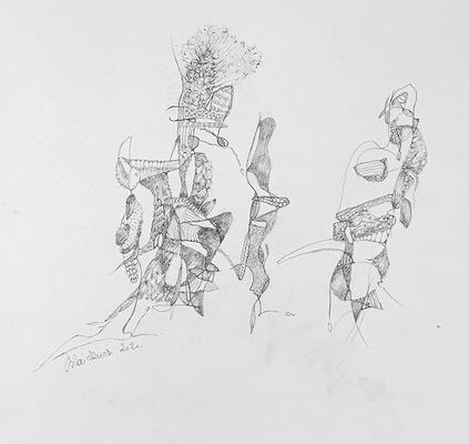 Zeichnung 40 | 2020 | 30x30cm