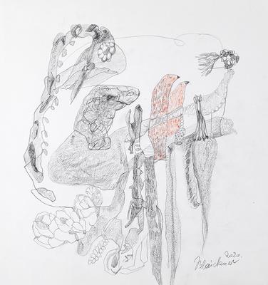 Zeichnung 41 | 2020 | 30x30cm