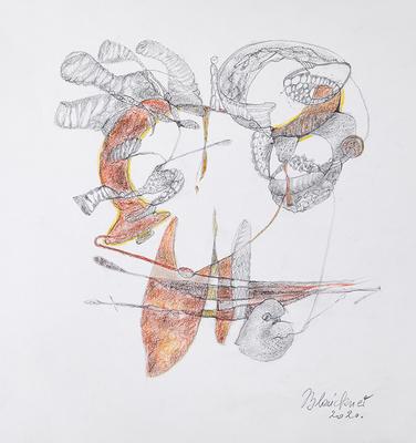 Zeichnung 38 | 2020 | 30x30cm