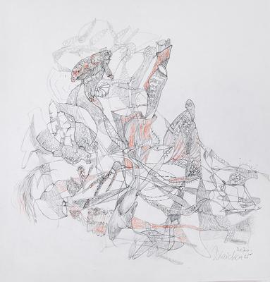 Zeichnung 37 | 2020 | 30x30cm