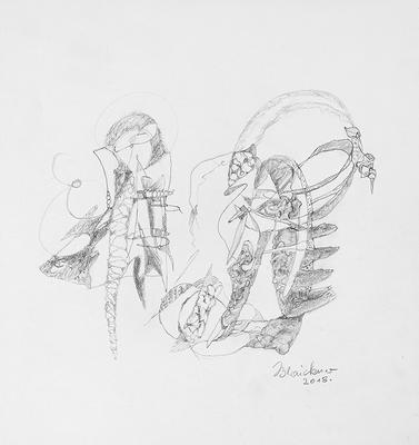 Zeichnung 36 | 2018 | 30x30cm