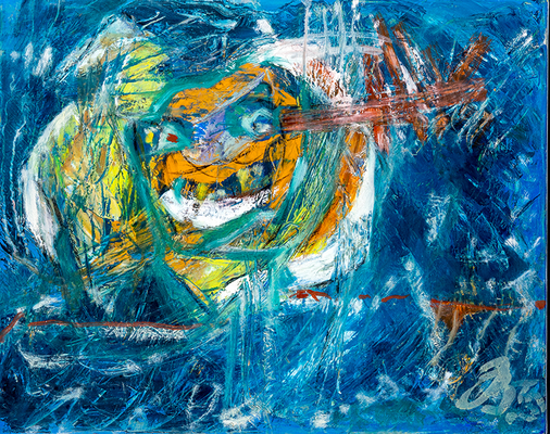 Hexe Kniesbein | Öl auf Leinwand | 50x40cm | 2015