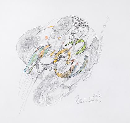 Zeichnung 30 | 2016 | 30x30cm