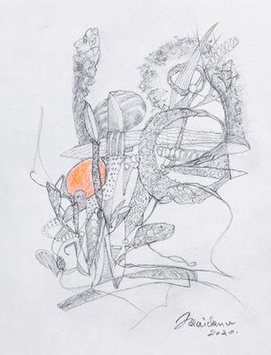 Zeichnung 44 | 2020 | 148x210mm