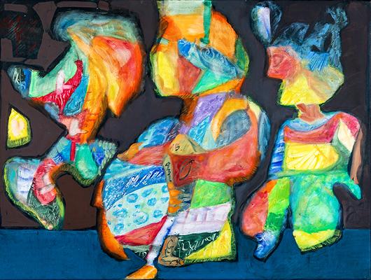 Patchworkfamilie | Öl auf Leinwand | 80x60cm | 2018