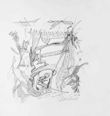 Zeichnung 34 | 2017 | 30x30cm