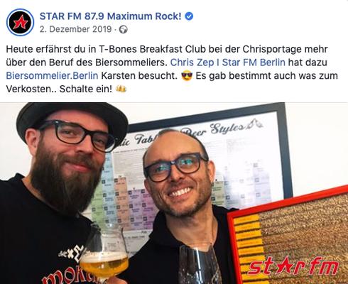 Biersommelier Karsten Morschett bei Radio Star FM - biersommelier.berlin