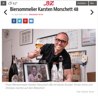 B.Z. über Biersommelier.Berlin Karsten Morschett - Bierverkostung