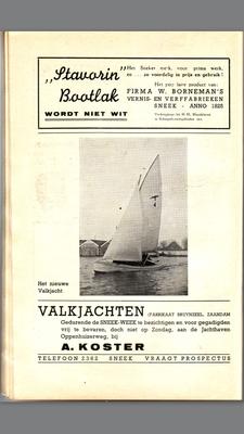 Foto van de dag voor de demonstratie wedstrijd op het Pikmeer te Grou , voor Hotel Oostergoo (30 maart 1940)