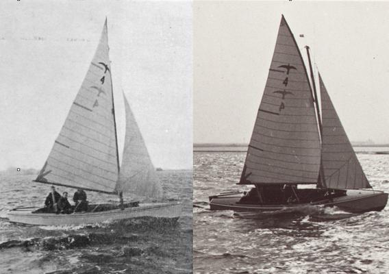 Foto's van de demonstratie wedstrijd op het Pikmeer te Grou (1940)