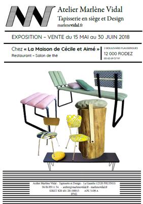 Expo-vente chez Cécile et Aimé à Rodez, mai-juin 2018