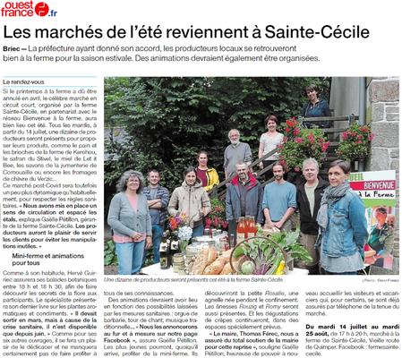 Ouest France du 7 juillet 2020