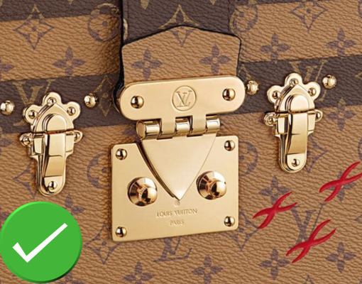 serrure en laiton poli usine Louis Vuitton