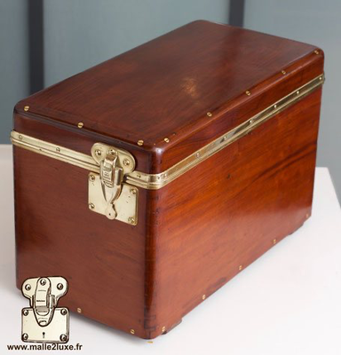 Louis Vuitton antique solid wood tool box for automobile trunk
