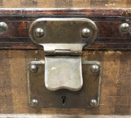 Louis Vuitton 1888 anti-return lock trunk brass