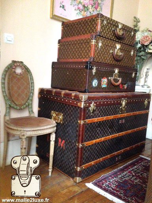 trunk Louis Vuitton decoration appartement